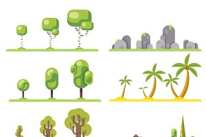 Isolated tree icons