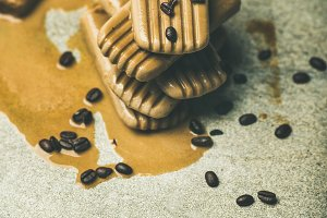 Melting coffee latte popsicles