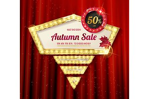 Autumn discounts, banners