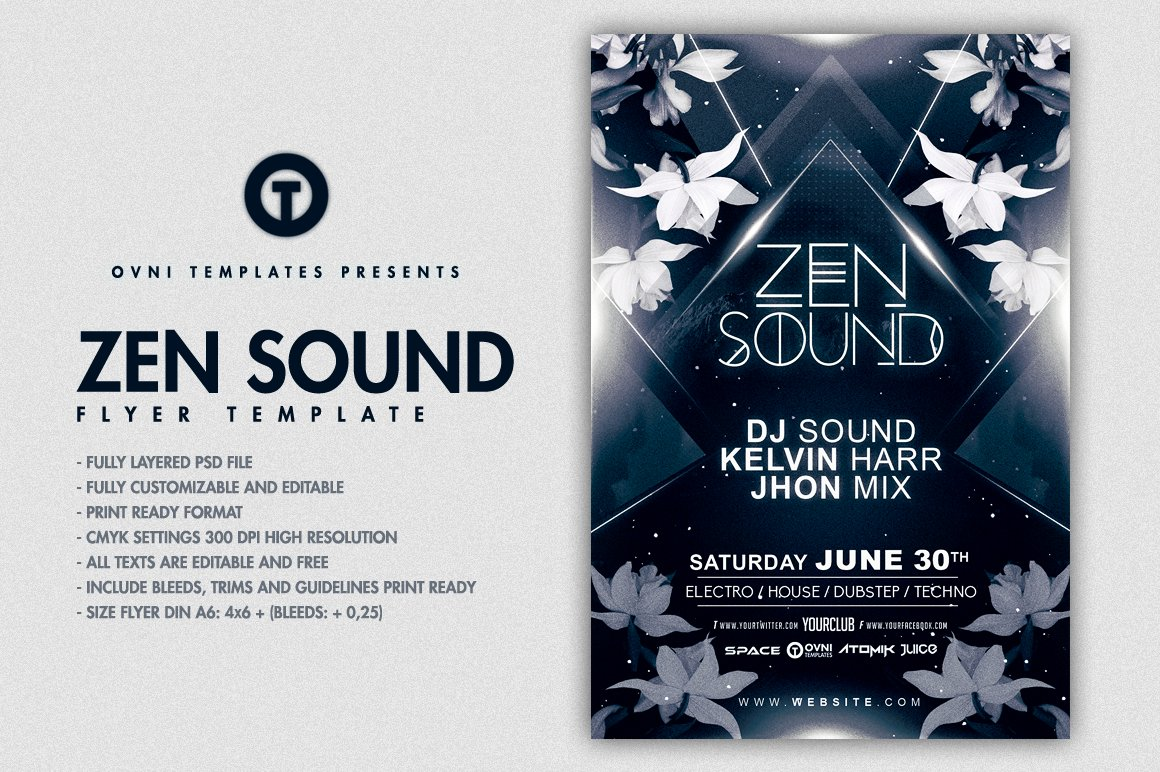 ZEN CHILL Flyer Template ~ Flyer Templates ~ Creative Market