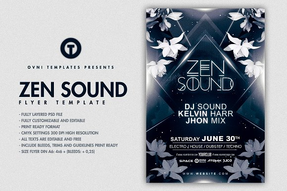 Zen Chill Flyer Template Flyer Templates Creative Market
