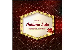Autumn discounts, banner