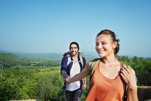 Couple Exploring Trip Holiday