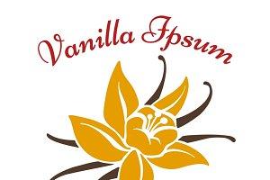 Vanilla dessert flavor logo