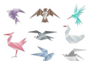 Origami bird set