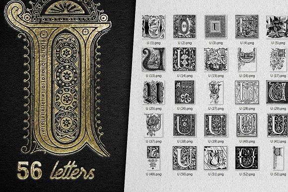 Vintage Letter U Vector And PNG