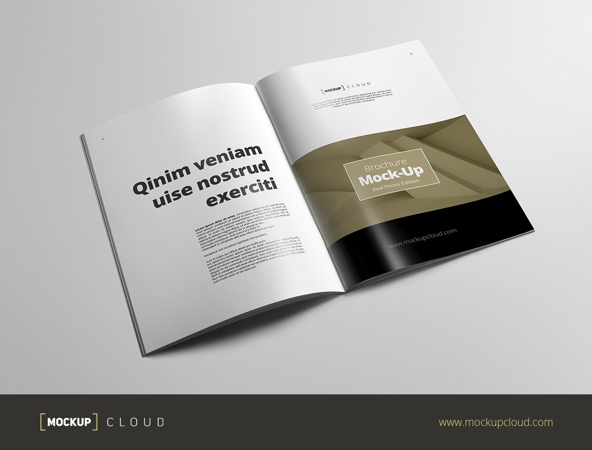 Brochure MockUp A Portrait Product Mockups Creative Market - Brochure mockup template
