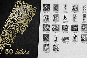 Vintage Letter S Vector And PNG