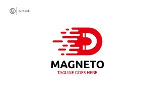 Magnetor - Letter D Abstract Logo