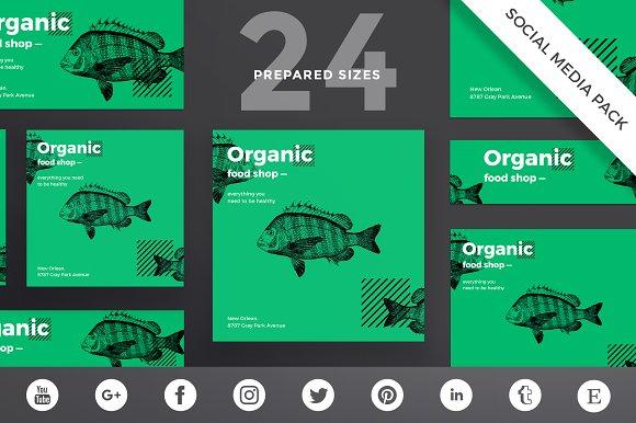 Social Media Pack   Organic Food