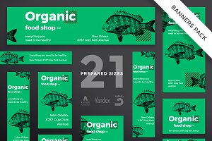 Banners Pack | Organic Food Shop