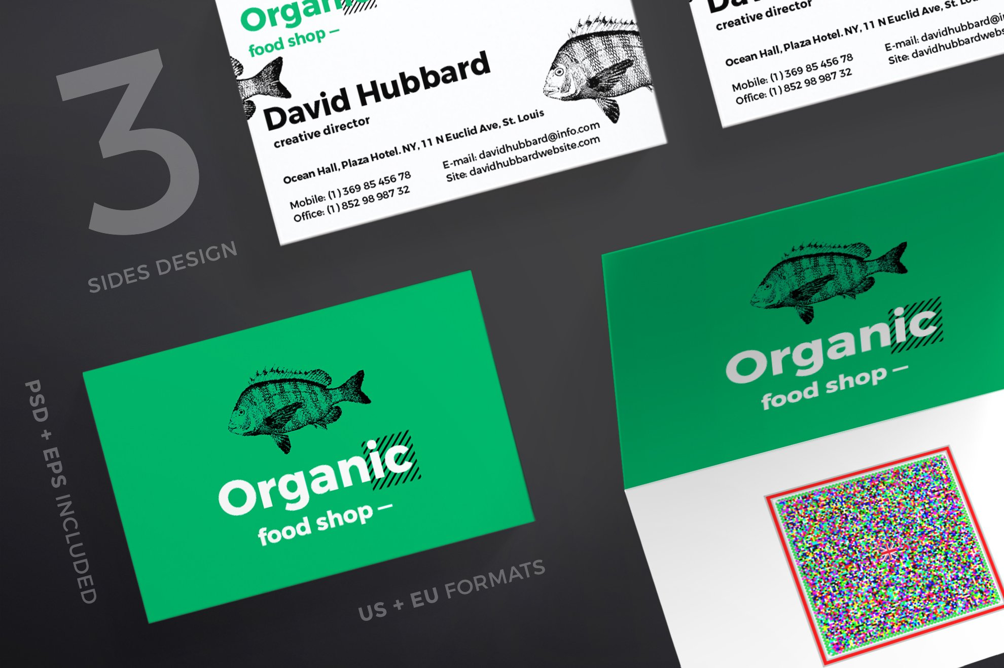 Business Cards | Organic Food Shop ~ Business Card Templates ...