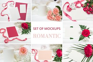 Set Mockups. ROMANTIC