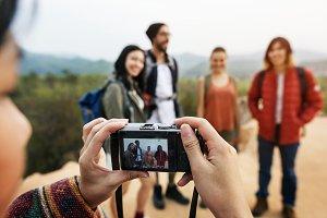 Friends Taking Photos Trip