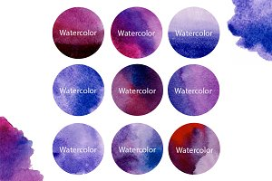 9 Watercolour paint forms