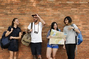 Friends Travel Backpacker Adventure