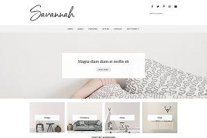 Responsive Blogger Theme, Savannah