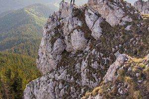 Hiker couple on the peak