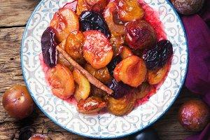 caramelized autumn plum