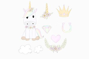 Sketched Unicorn Dreams Clipart