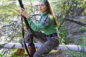 The girl hunter in ambush