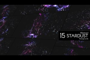 "15 Abstract Backgrounds ""STARDUST"""