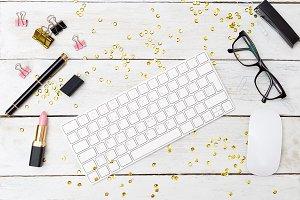 Styled feminine desktop & sparkles
