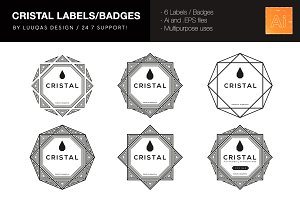 Cristal Labels/Badges