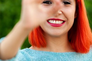 Pretty red haired girl