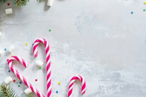 Christmas background. Decorations.