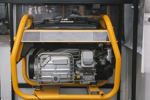 Gasoline Portable Generator close up