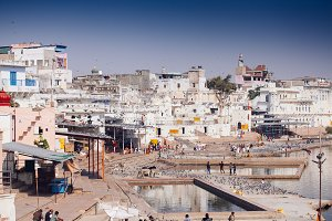 Pushkar city, Rajasthan, India