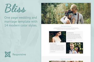 Bliss Joomla Wedding Template
