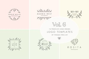 Feminine Premade Logo Bundle Vol. 6