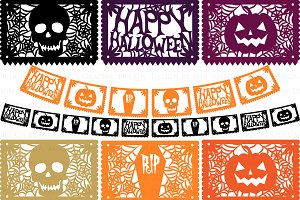 Halloween Papel Picado