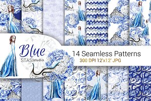 Blue Fashion Paper Pack