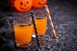 Halloween pumpkin orange cocktails