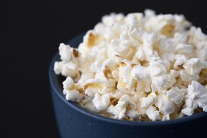 Bowl of Buttered Popcorn
