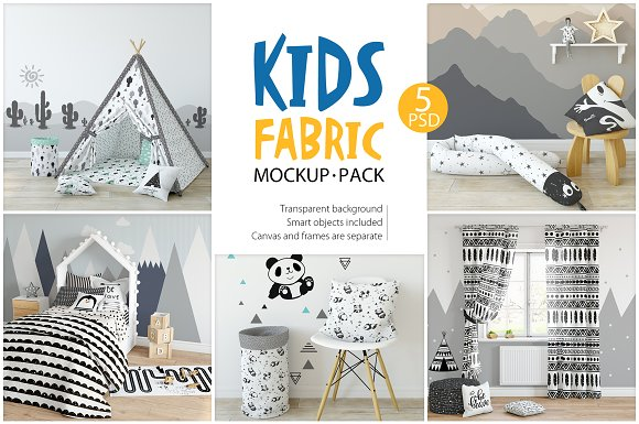 Kids Fabric Mockup Pack 1 Product Mockups