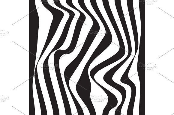 Striped abstract background. black and white zebra print. Vector seamless illustration. eps10