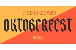Poster, banner with text Oktoberfest