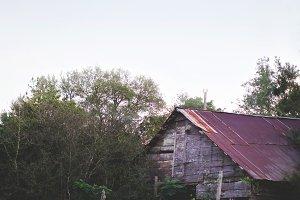 Old Farm House at Dusk