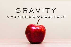 Gravity - A Modern and Spacious Font