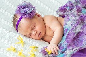Newborn baby girl princess