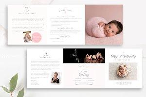 Newborn Pricing 5x5 Accordion PSD