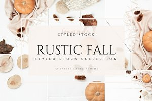 Rustic Fall Styled Stock Photos