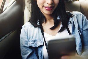 Asian woman traveler