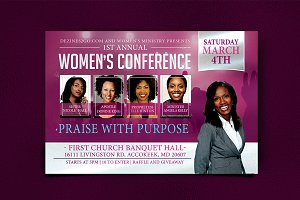 Women's Conference Flyer Template
