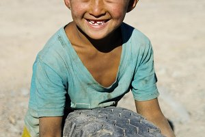 Asian boy with a beautiful smile