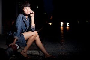 fashion portrait asian girl